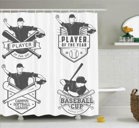 Baseball und Softball Duschvorhang
