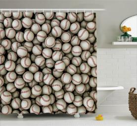 Baseball-Sport-Emblem Duschvorhang
