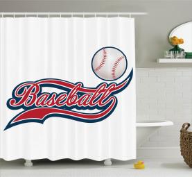 Baseball Ballsportarten Duschvorhang