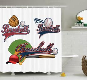 Baseball-Mitt-Ball Duschvorhang