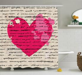 Liebe Zitat Handschrift Duschvorhang