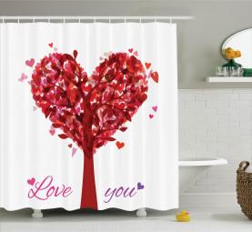 Vintage Romantik Herz Duschvorhang