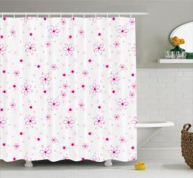 Muster mit Blumen Duschvorhang