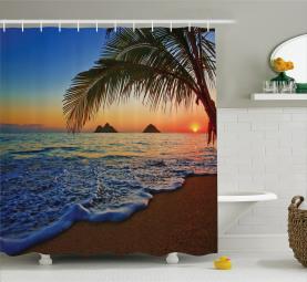 Sunrise Lanikai Beach Shower Curtain