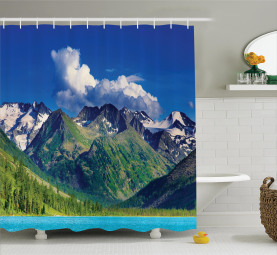 See in den Altai-Bergen Duschvorhang