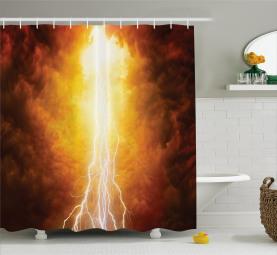 Lebhafter apokalyptischer Tag Duschvorhang