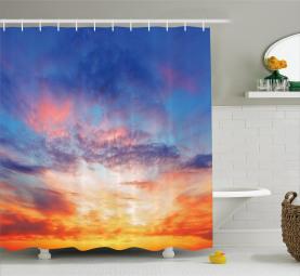 Sonnenuntergang Wolkengebilde Himmel Duschvorhang
