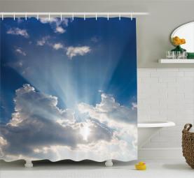 Wolken Sunny Day Himmel Duschvorhang