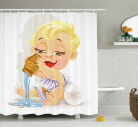 Baby-Wassermann-Tierkreis Duschvorhang