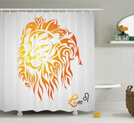 Leo Horoskop Zeichen Duschvorhang