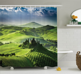 Sunrise in the Valley Shower Curtain