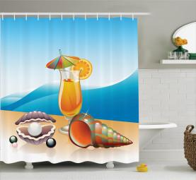 Seelandschaft Sommer Strand Duschvorhang