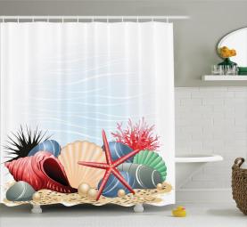 Sommerzeit Seaside Pearl Duschvorhang