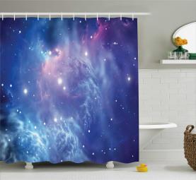 Sternhaufen im Weltraum Duschvorhang