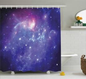 Milchstraße Galaxy Sterne Duschvorhang