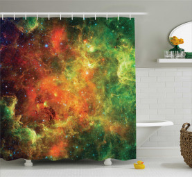 Kosmos Space Planet Duschvorhang
