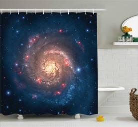 Schwarzer Loch-Kosmos-Raum Duschvorhang