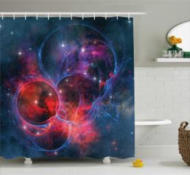 Milchstraße Sternhaufen Duschvorhang