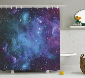 Nebel Duschvorhang Galaxy Sterne im Weltraum Für das Badezimmer