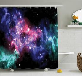 Staubige Gas-Wolken-Sterne Duschvorhang