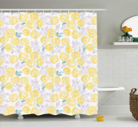 Blossoming Roses Shower Curtain