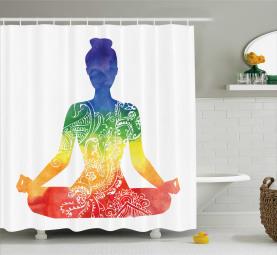 Kunstvolle Motive Regenbogen Duschvorhang
