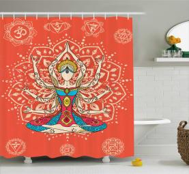 Zen-Disziplin-Kostüm Duschvorhang