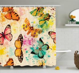 Murky Grungy Butterfly Shower Curtain
