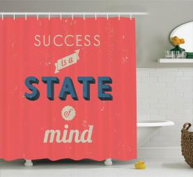 Erfolg, der Zitat motiviert Duschvorhang