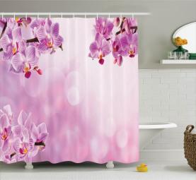 Orchideen-Frühlings-Blumenblatt-Badekurort Duschvorhang