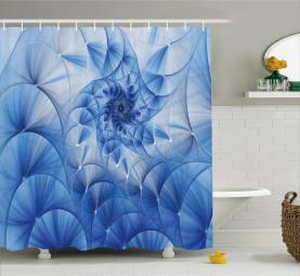 Monochrome Blumenmotiv Duschvorhang