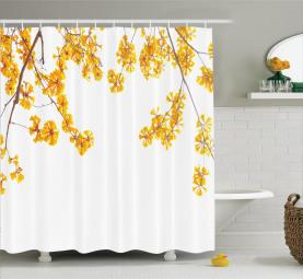 Blühender Blumengarten Duschvorhang