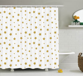 Gelbe Sterne Muster Duschvorhang