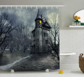 Gothic Spukhaus Duschvorhang