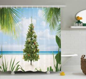 Feiertags-Party-Baum Duschvorhang
