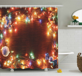 Fairy Pine Süßigkeiten Duschvorhang