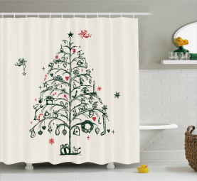 Baum und Feen Duschvorhang