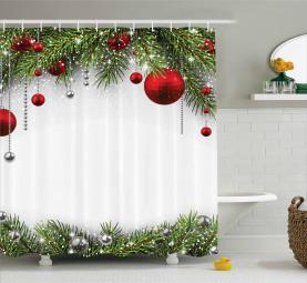 Baulbes Noel Tree Shower Curtain