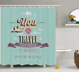 Reisen Reise Thema Angebot Duschvorhang