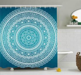 Mandala-Blumen Duschvorhang