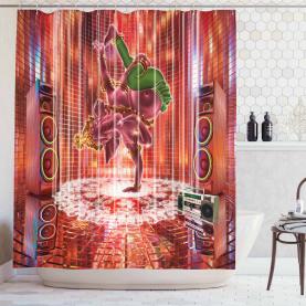 Elephant Figure Dance Shower Curtain