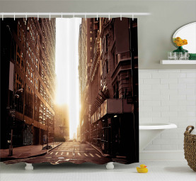 Early Morning Manhattan Shower Curtain