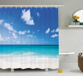 Barbados Coastline Summer Shower Curtain