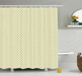 Geometric Spring Leaves Shower Curtain