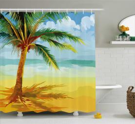 Kokosnuss-Palme-Zweig Duschvorhang