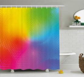 Leuchtende leuchtende Farben Duschvorhang
