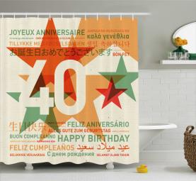 Celebration Worldwide Shower Curtain