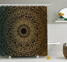 Kaleidoskopisches Universum Zeichen Duschvorhang