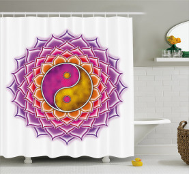 Blossom Ying and Yang Shower Curtain