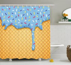 Süße Waffel Duschvorhang
